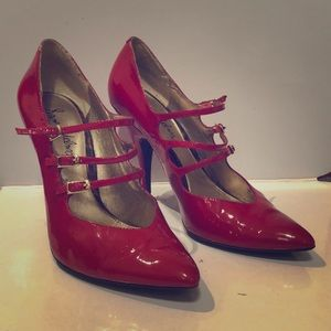 Sam Edelman RED stiletto 'Mary Janes'